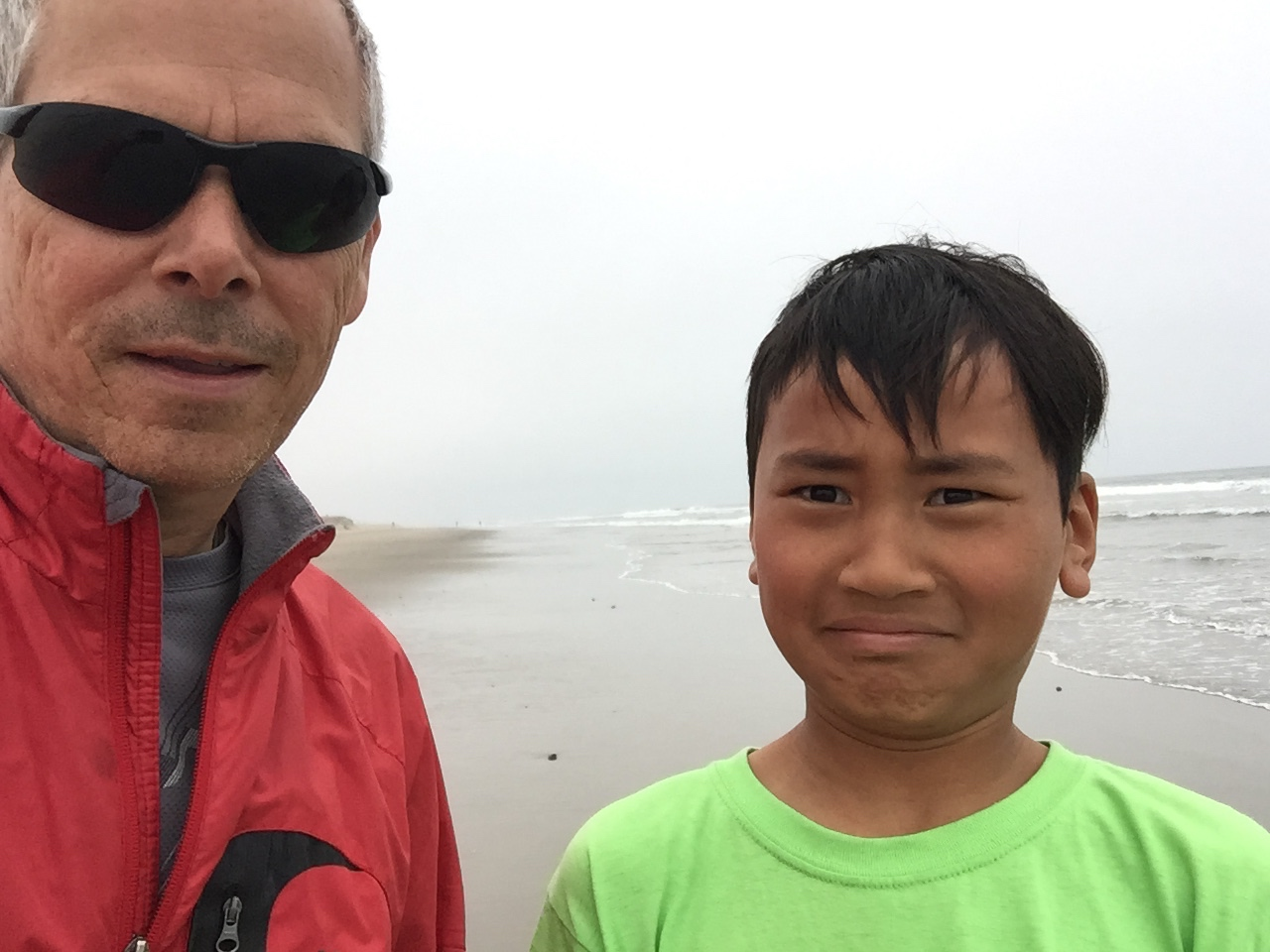 Two dudes on beach